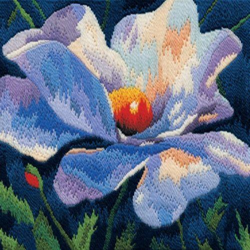 White Poppy - Wool Long Stitch