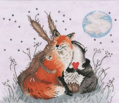 Peace and Huggles - Sarah Reilly Cross Stitch Kit