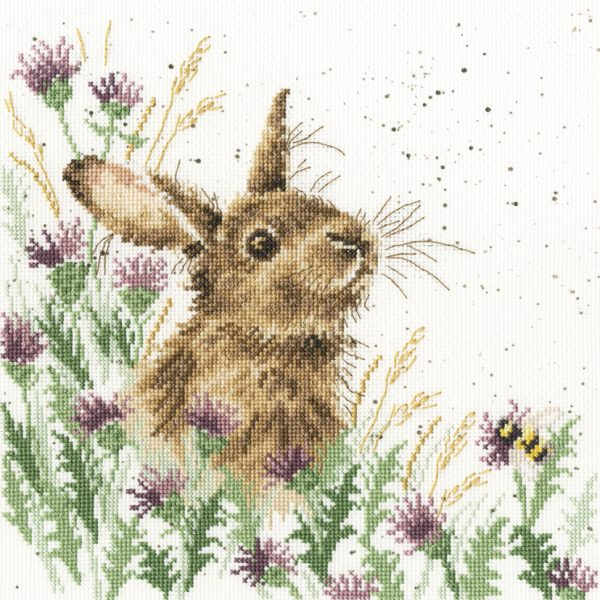The Meadow - Hannah Dale Rabbit Cross Stitch Kit - Bothy Threads