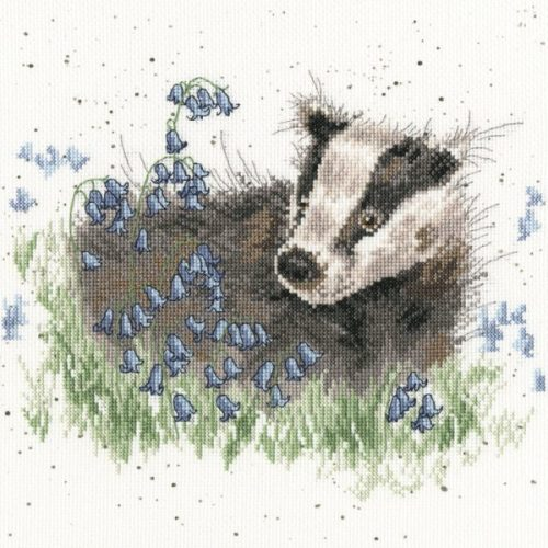 Bluebell Wood - Hannah Dale Badger Cross Stitch Kit