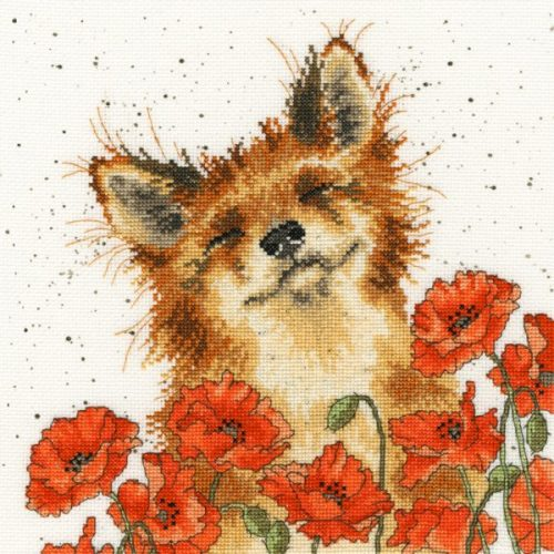Poppy Field - Hannah Dale Fox Cross Stitch