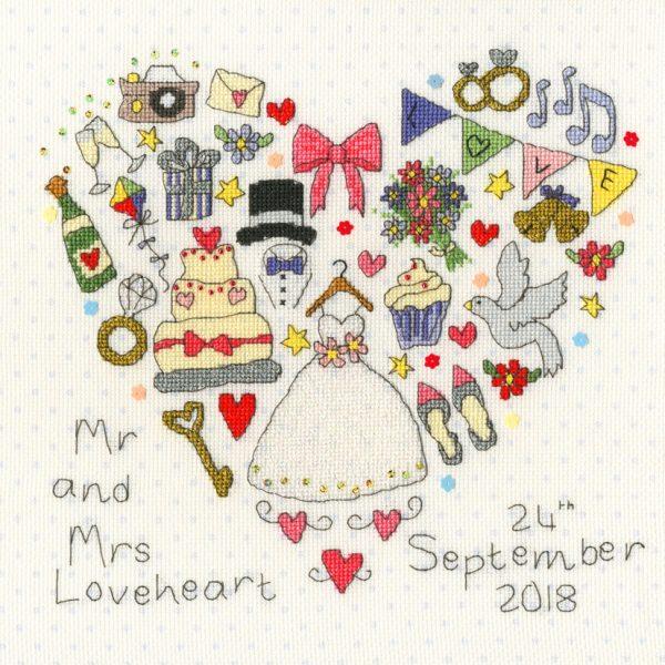 The Big Day Wedding Sampler - Bothy Threads