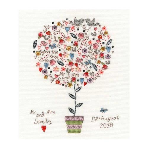Love Vows Wedding Sampler - Bothy Threads