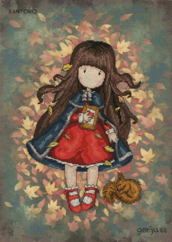 Autumn Leaves - Gorjuss Cross Stitch