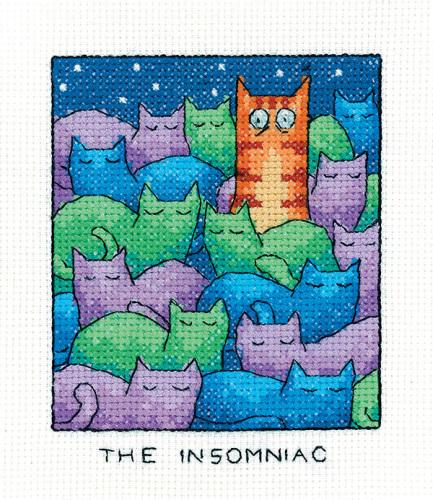 The Insomniac - Simply Heritage Cat Cross Stitch