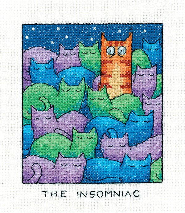 The Insomniac - Simply Heritage Cat Cross Stitch