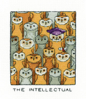The Intellectual - Simply Heritage Owl Cross Stitch