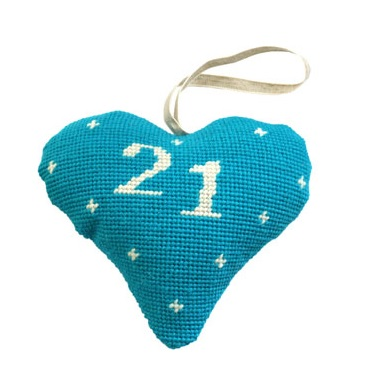 Birthday/Anniversary 21 Lavender Heart Tapestry (Buy 2 for £27)