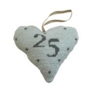Birthday/Anniversary 25 Lavender Heart Tapestry (Buy 2 for £27)