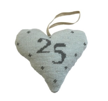 Birthday/Anniversary 25 Lavender Heart Tapestry (Buy 2 for £27)