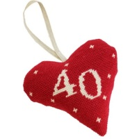 Birthday/Anniversary 40 Lavender Heart Tapestry (Buy 2 for £27)