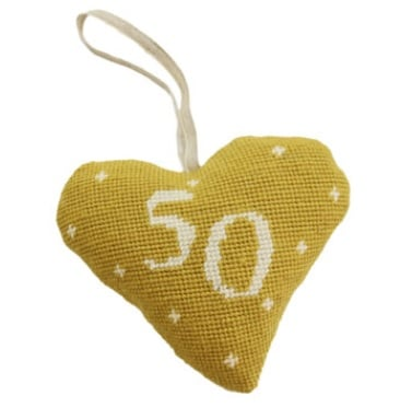 Birthday/Anniversary 50 Lavender Heart Tapestry (Buy 2 for £27)