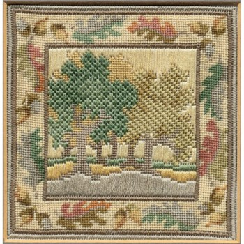 Autumn Oaks - Counted Canvas Work - Petit Point & Long Stitch