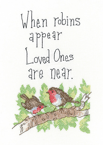 When Robins Appear - Peter Underhill Cross Stitch Kit