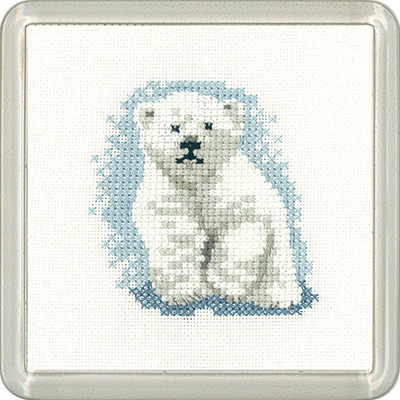 Polar Bear Coaster Kit - Heritage Crafts