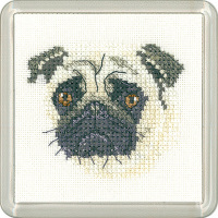 Pug Dog Coaster Kit
