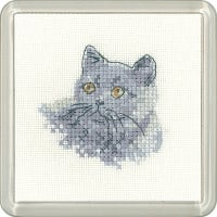 British Blue Cat Coaster Kit