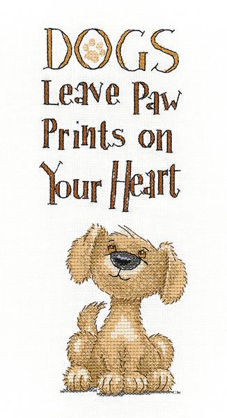 Paw Prints - Peter Underhill Cross Stitch - Heritage Crafts