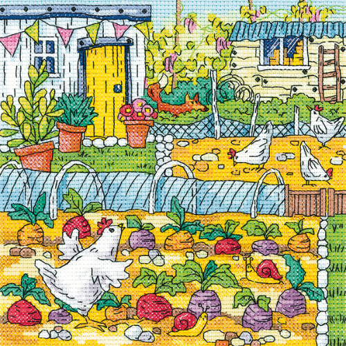 Vegetable Patch - Heritage Crafts cross stitch kit
