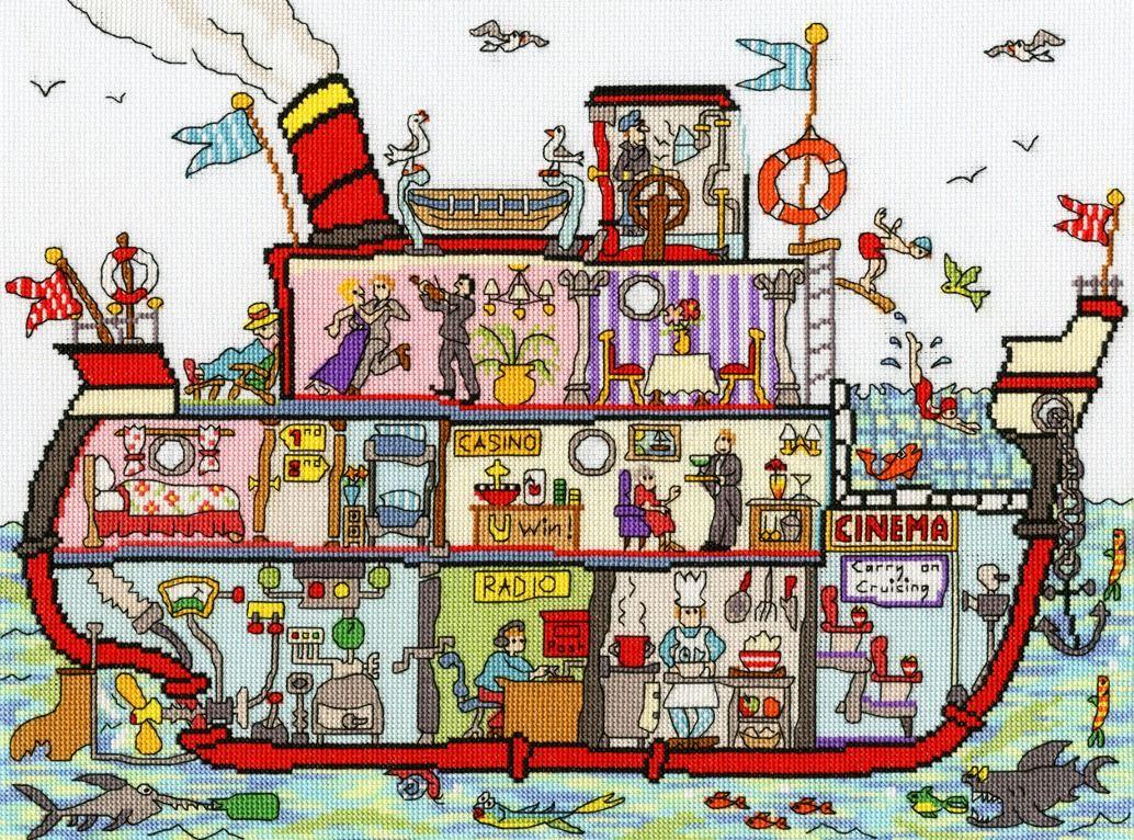 Cruise Ship - Bothy Threads Cut Thru'