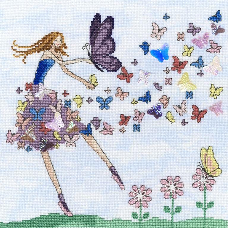 Butterfly Dance - Mila Marquis Cross Stitch