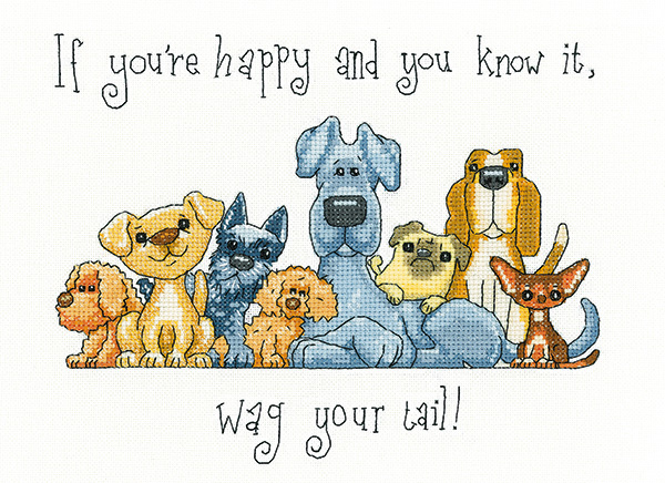 Wag your Tail - Peter Underhill cross stitch kit - Heritage Crafts