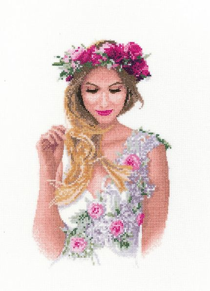 Emily - John Clayton Cross Stitch - Elegant Lady