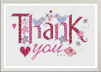Bridal Thank you - Nia Cross Stitch Sampler