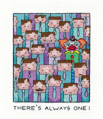 There's Always One - Simply Heritage Clown Cross Stitch
