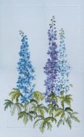 Delphiniums Cross Stitch