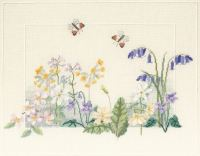 Spring Wild Flowers Cross Stitch