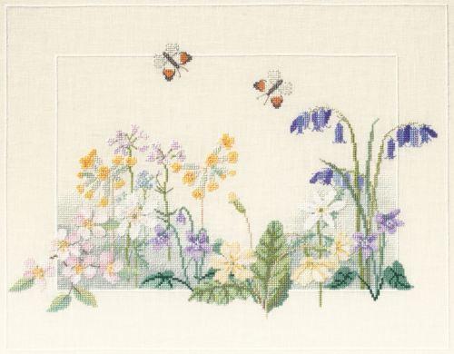 Spring Wild Flowers Cross Stitch