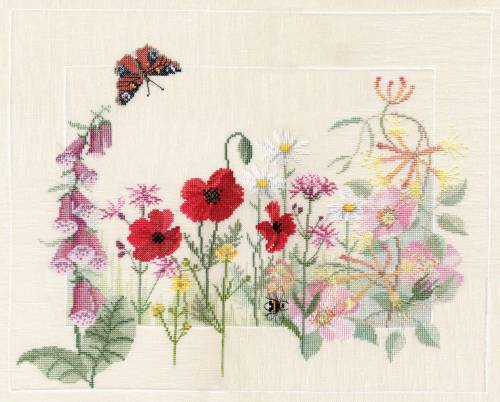 Summer Wild Flowers Cross Stitch - Derwentwater Designs