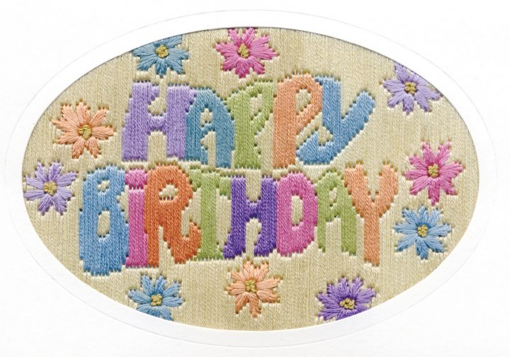 Happy Birthday - Long Stitch Card Kit