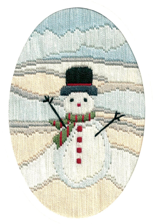 Frosty Snowman - Long Stitch Card Kit