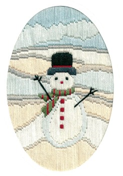 Frosty Snowman - Long Stitch Card Kit