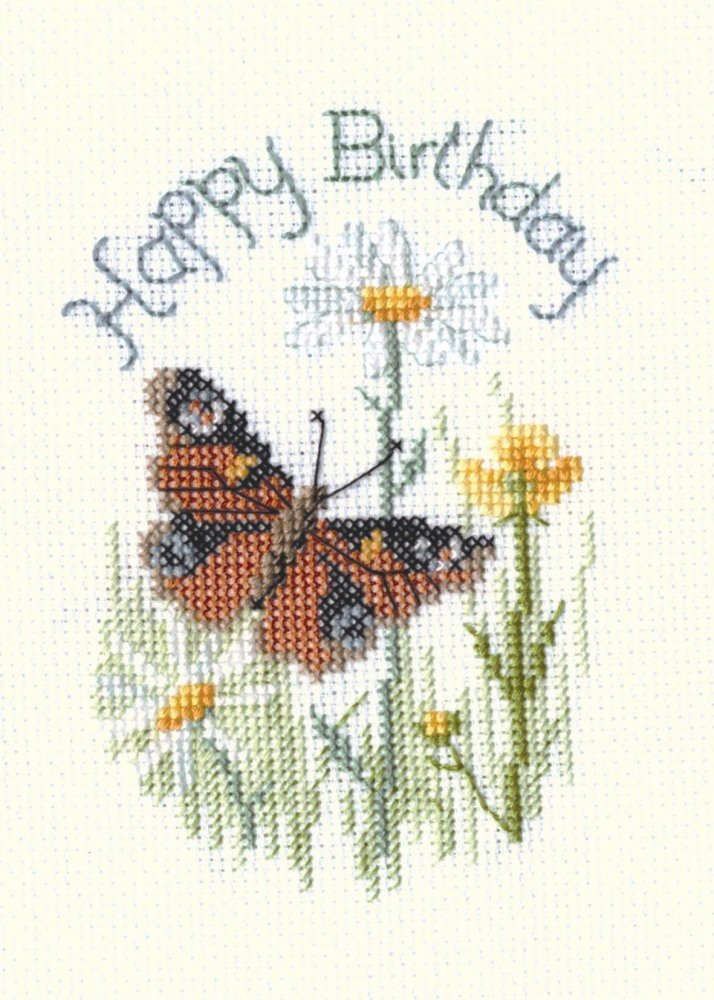 Butterfly and Daisies - Birthday Card Kit