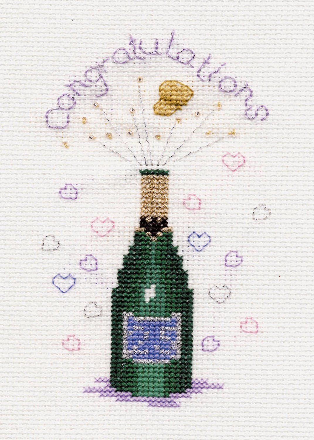Champagne Congratulations Card Kit