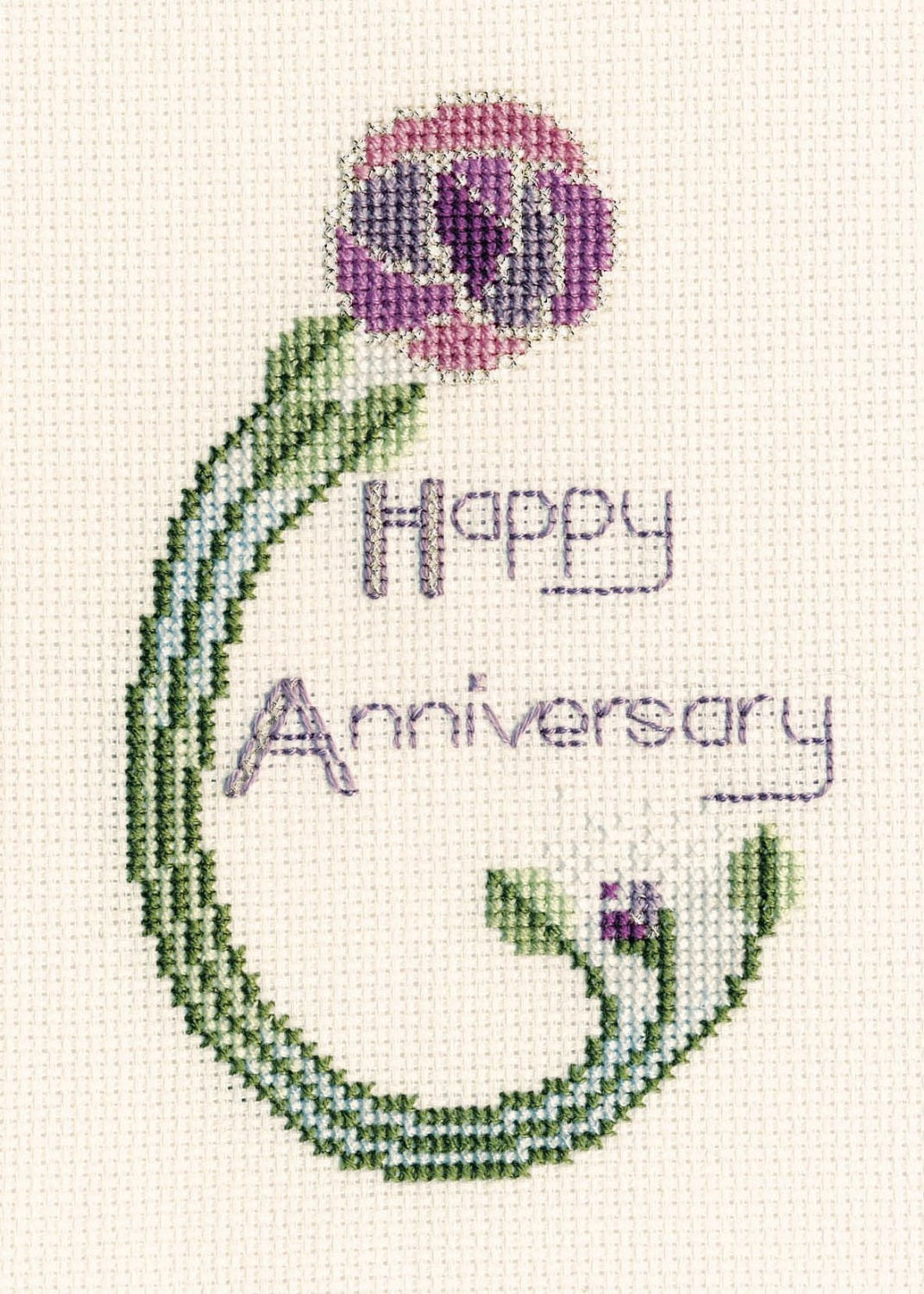 Mackintosh Rose - Anniversary Cross Stitch Card Kit