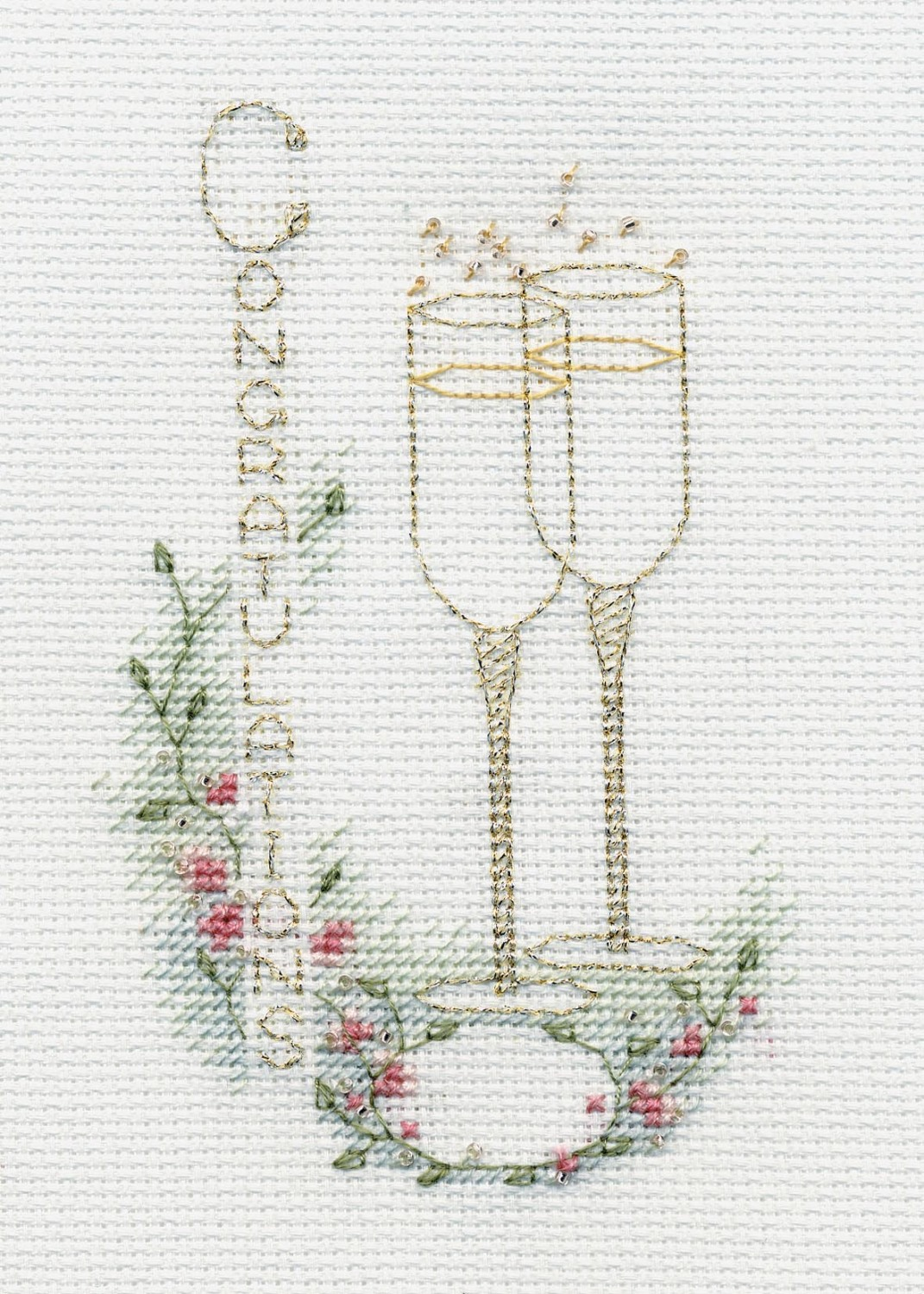 Congratulations Cross Stitch Card Kit (Wedding)