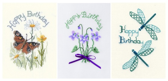 Cross Stitch Birthday Cards