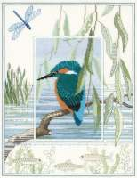 Kingfisher Cross Stitch and Blackwork