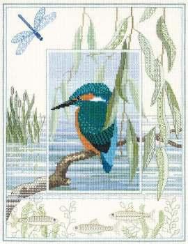 Kingfisher Cross Stitch and Blackwork