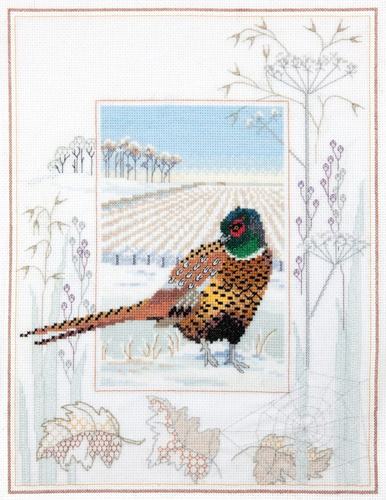 Pheasant Cross Stitch and Blackwork