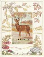 Deer Cross Stitch and Blackwork