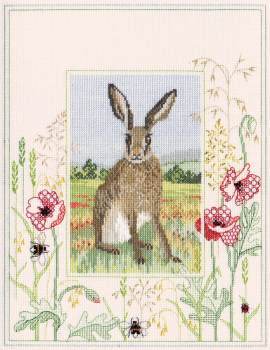 Hare Cross Stitch and Blackwork