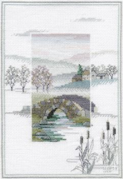 Winter Bridge - Misty Mornings Cross Stitch