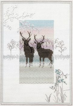 Frosty Deer - Misty Mornings Cross Stitch