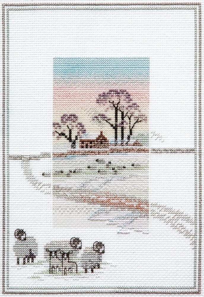 Snowy Sheep - Misty Mornings Cross Stitch