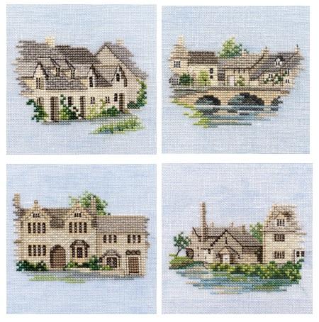 Set of 4 Cotswold Mini Cross Stitch Kits